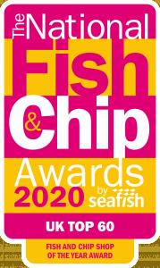 National Fish & Chip Awards 2020 UK top 60 award